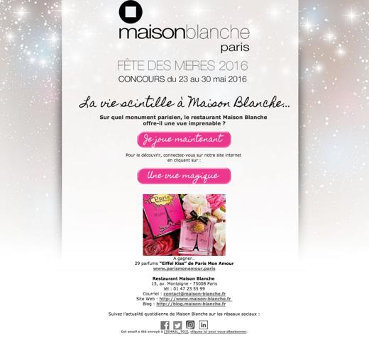 Maison Blanche : Paris mon Amour
